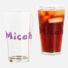 Micah Pink Giraffe Drinking Glass
