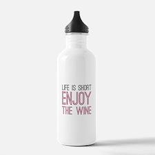 Life Short Wine Water Bottle