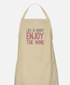 Life Short Wine Apron