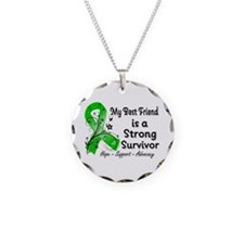 Best Friend Strong Survivor Necklace Circle Charm