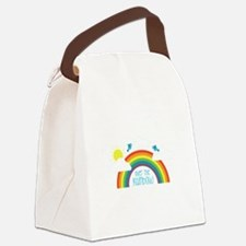 Over The Rainbow Canvas Lunch Bag