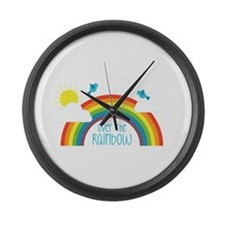 Over The Rainbow Large Wall Clock
