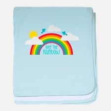 Over The Rainbow baby blanket