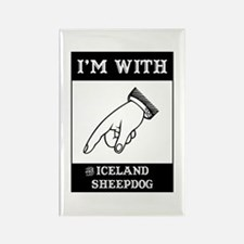 With the Sheepdog Rectangle Magnet