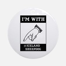 With the Sheepdog Ornament (Round)