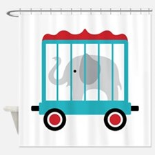 Elephant Cage Zoo Shower Curtain