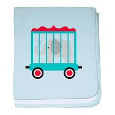 Elephant Cage Zoo baby blanket