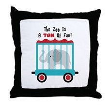 The Zoo Is A Ton Of Fun! Throw Pillow