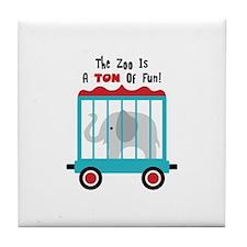 The Zoo Is A Ton Of Fun! Tile Coaster