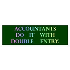 Accountant Gift Bumper Bumper Sticker
