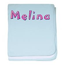 Melina Pink Giraffe baby blanket
