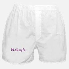 McKayla Pink Giraffe Boxer Shorts