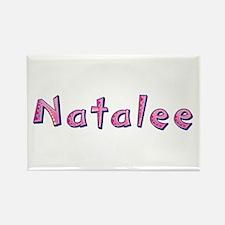 Natalee Pink Giraffe Rectangle Magnet
