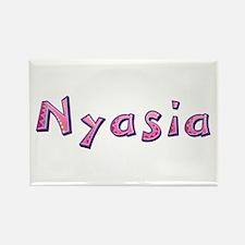 Nyasia Pink Giraffe Rectangle Magnet