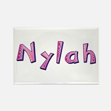 Nylah Pink Giraffe Rectangle Magnet