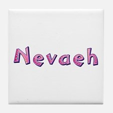 Nevaeh Pink Giraffe Tile Coaster