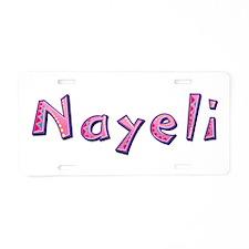 Nayeli Pink Giraffe Aluminum License Plate
