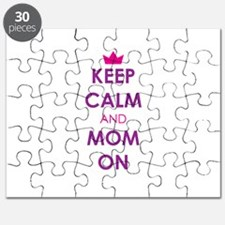 Keep Calm and Mom On Puzzle