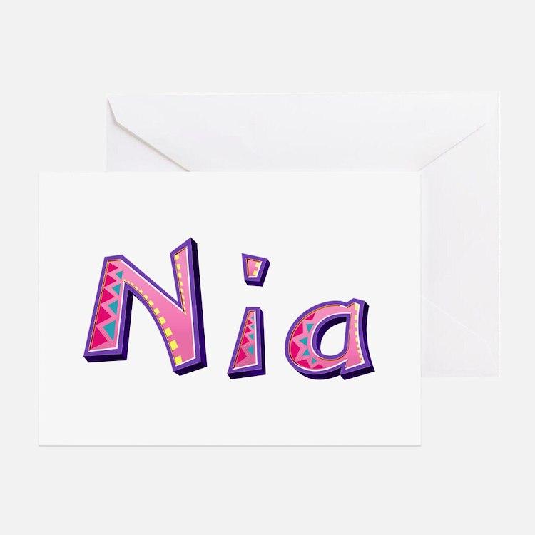 Nia Pink Giraffe Greeting Card