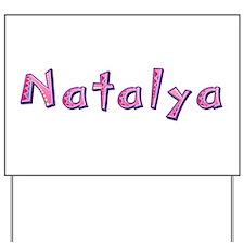 Natalya Pink Giraffe Yard Sign