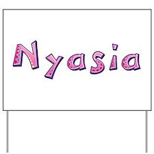 Nyasia Pink Giraffe Yard Sign