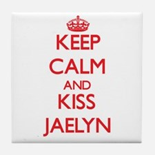 Keep Calm and Kiss Jaelyn Tile Coaster