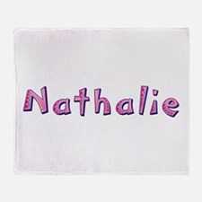 Nathalie Pink Giraffe Throw Blanket
