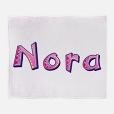 Nora Pink Giraffe Throw Blanket