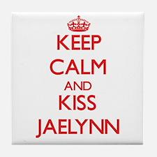 Keep Calm and Kiss Jaelynn Tile Coaster