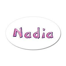 Nadia Pink Giraffe Wall Decal