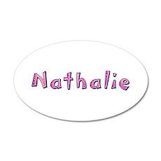 Nathalie Pink Giraffe Wall Decal