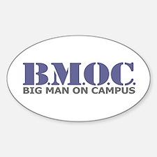 BMOC (Big Man On Campus) Oval Decal