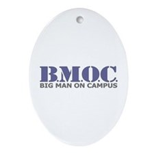 BMOC (Big Man On Campus) Oval Ornament