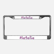 Natalia Pink Giraffe License Plate Frame