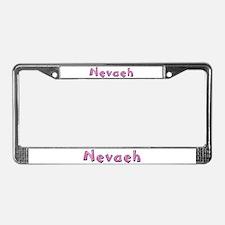 Nevaeh Pink Giraffe License Plate Frame