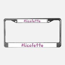 Nicolette Pink Giraffe License Plate Frame