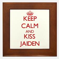 Keep Calm and Kiss Jaiden Framed Tile