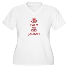 Keep Calm and Kiss Jaliyah Plus Size T-Shirt