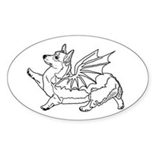 Welsh Corgon - Line Drawing - Decal