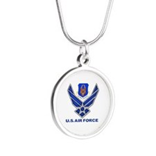 Reserve Command Usaf Silver Silver Round Necklace