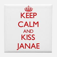 Keep Calm and Kiss Janae Tile Coaster