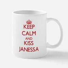 Keep Calm and Kiss Janessa Mugs