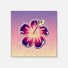 "Purple hibiscus Square Sticker 3"" x 3"""