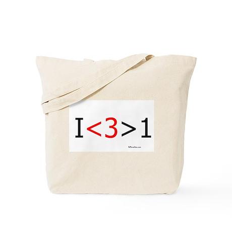 I love more than one (red hea Tote Bag