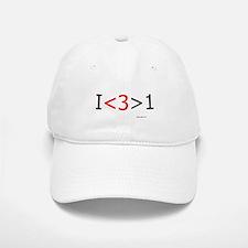 I love more than one (red hea Baseball Baseball Cap