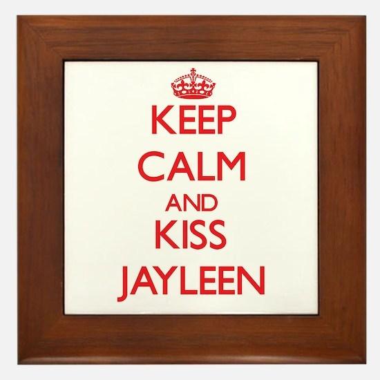 Keep Calm and Kiss Jayleen Framed Tile