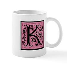 Pink Fleur Monogram K Mug