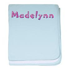 Madelynn Pink Giraffe baby blanket