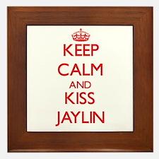 Keep Calm and Kiss Jaylin Framed Tile
