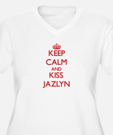 Keep Calm and Kiss Jazlyn Plus Size T-Shirt